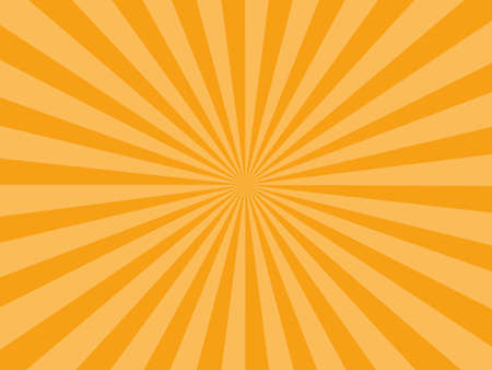 Sunburst rays orange background. sunbeam star burst. Vector illustration eps Vektoros illusztráció