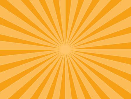 Sunburst rays orange background. sunbeam star burst. Vector illustration. eps Ilustração Vetorial