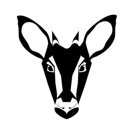 goral head icon. goat head design on white background. Wild animals. vector illustration eps