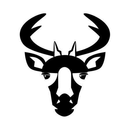 deer head icon. deer head logo on white background. Wild animals. vector illustration eps