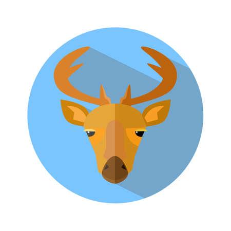 deer icon on white background. deer logo. Vector illustration eps