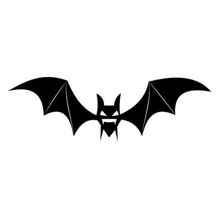 Bat Silhouette logo. Halloween black bat icon. Halloween symbol. vector illustration Logo