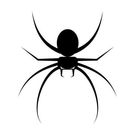 silhouette of spider icon. scary spider isolated on white background vector