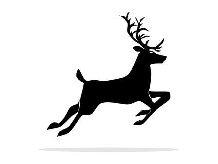 silhouette of deer isolated on white background. vector illustration eps