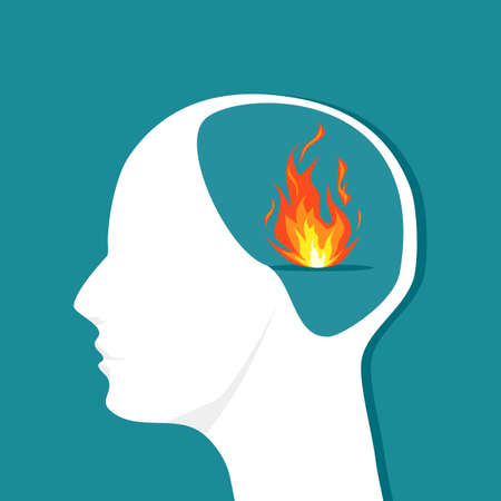 Fire in the human head. The keen thinker.