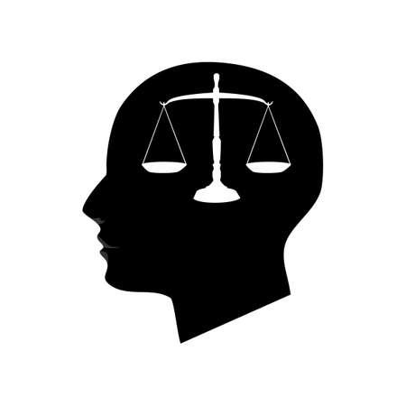 The head of a fair idea. On white background vector illustration Vektorové ilustrace