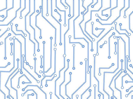 Circuit Board Technology vector. Technological background with a circuit board texture
