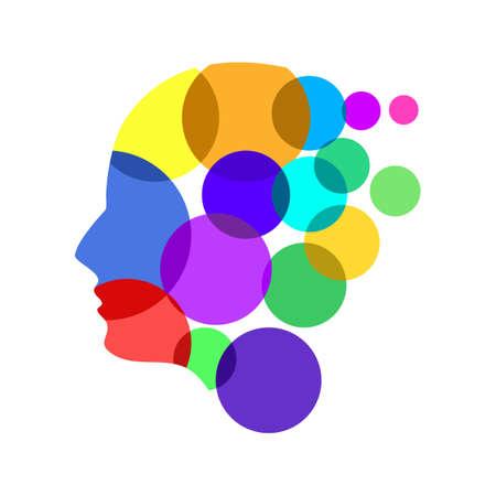 people head art icon. human face logo. mind creative. vector illustration Illustration