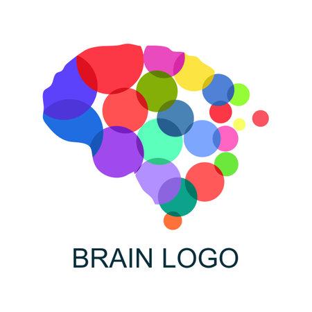 Brain logo. Brain icon. Vector illustration. business concept