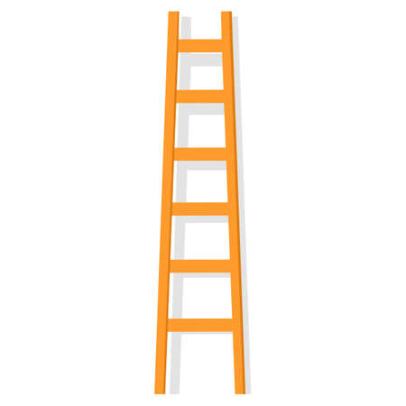 ladder icon with steps. stairs Isolated on white background. vector illustration. oject concept Illustration