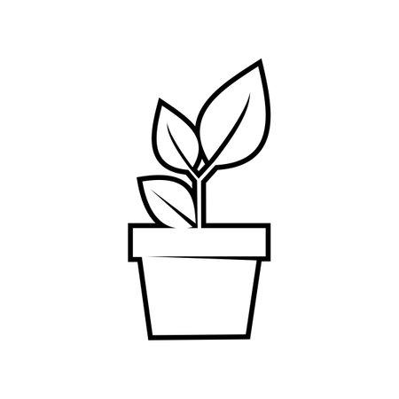 modern plant pot icon. plant pot. nature concept vector illustration