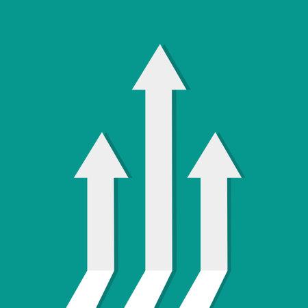 business arrow target direction concept to success. Finance concept vector