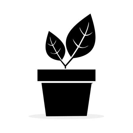 modern plant pot icon. plant pot logo. vector illustration. nature concept Illusztráció