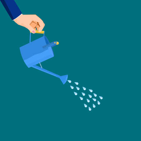 Businessman watering plants. The concept of growth. business vector