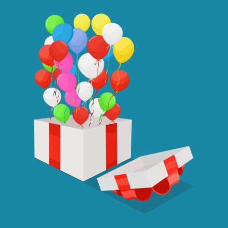 Balloons and gift boxes. Merry Christmas and Happy New Year. new year vector