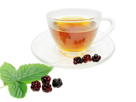 fruit tea with blackberry extract and berries photo