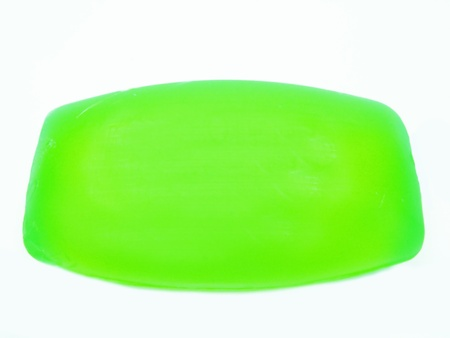 glycerin soap: glycerin green soap for shower Stock Photo