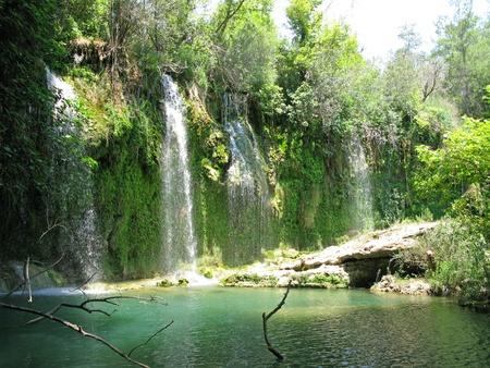 waterfall kursunlu in national park antalya turkey Stock Photo
