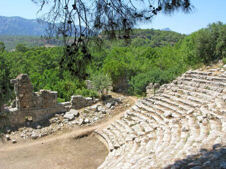 teatro antico: rovine dell'antica teatro Phaselis tacchino