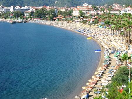 beach coastline panoramic view in turkey