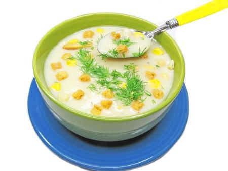 Crema saporita zuppa con patate carote e spezie Archivio Fotografico - 11169386