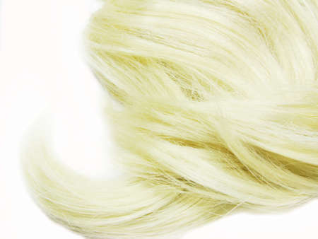 gingery: blond hair wave isolated on white background