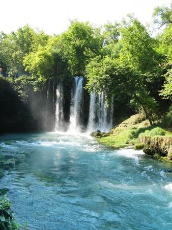 waterfall falling duden in national park turkey