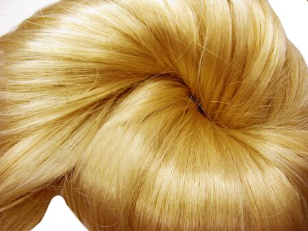 gingery: gingery hair knot isolated on white background