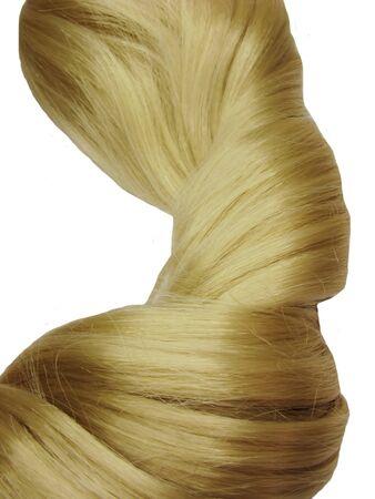 gingery: dark gingery hair wave isolated on white background