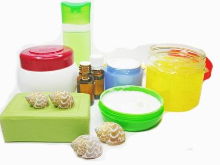 spa cosmetics shampoo oils and cremes photo