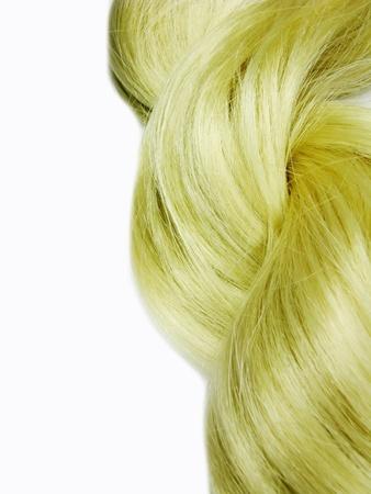 gingery: gingery hair wave frame isolated on white background