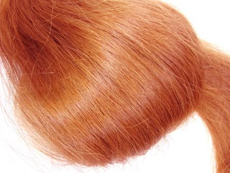 gingery: gingery hair wave isolated on white background Stock Photo