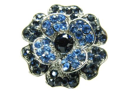 diamond jewellery: precious jewellery brooch isolated on white background Stock Photo