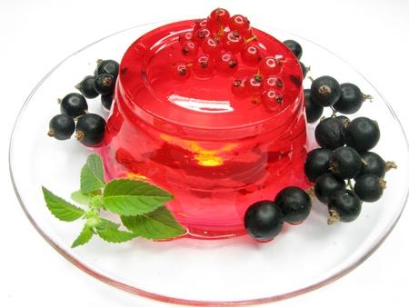 Gelatina di frutta dolce con marmellata di ribes rosso Archivio Fotografico - 11495474