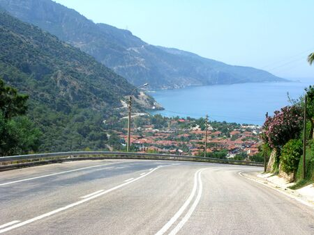 oludeniz: panoramiv view of turkish resort oludeniz fethiye