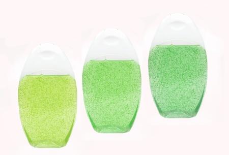 bottles of shampoo and shower gel photo