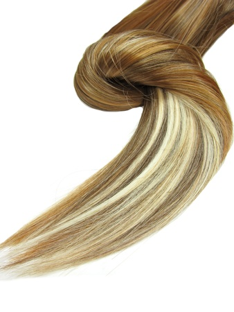 人間の髪の毛: 髪のテクスチャの抽象的な背景を強調表示します。