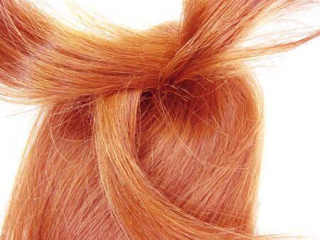 gingery: gingery hair curls isolated on white background