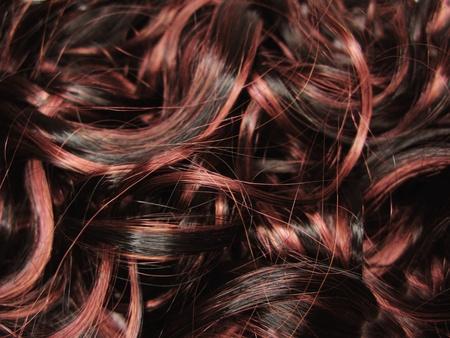 Evidenziare i capelli ricci scuri texture di sfondo astratto Archivio Fotografico - 11921145