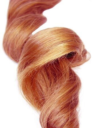 gingery: gingery hair curl isolated on white background