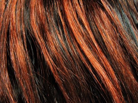dark red highlight hair texture abstract background Stock Photo
