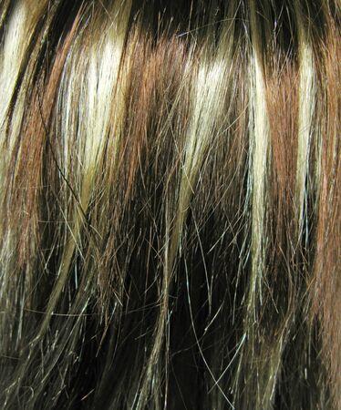 texture capelli: evidenziare le texture sfondo astratto capelli Archivio Fotografico