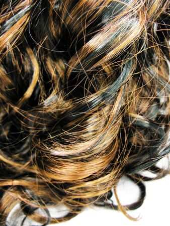 gingery: black and gingery curly highlight hair texture abstract background