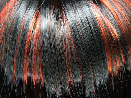 gingery: black and red highlight hair texture abstract background