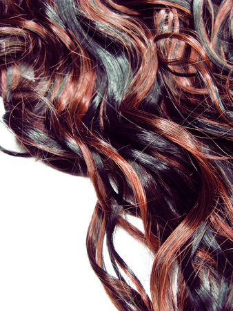 curly black and red highlight hair texture abstract background Stock Photo - 12153976