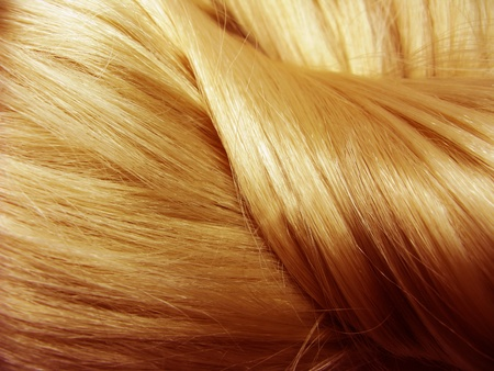 hair curl: gingery hair texture abstract background Stock Photo