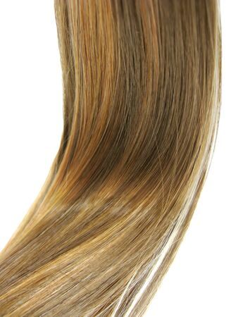 gingery: shiny gingery hair wave isolated on white background