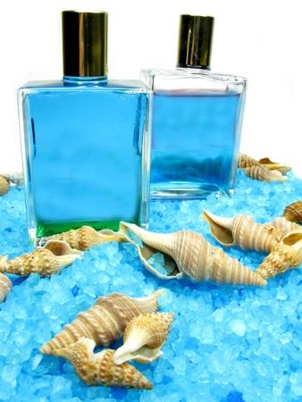 essences: spa bathing salt sea shells and essences