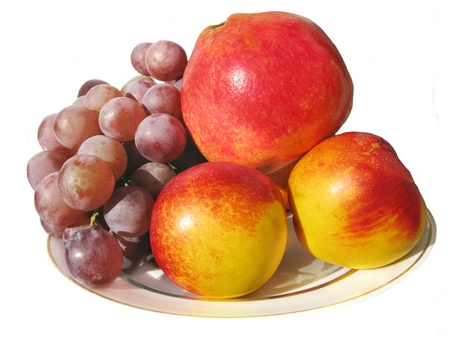 composition of different fruits on the plate Stock Photo - 13490781