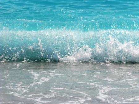 blue waves water texture in mediterranean sea background